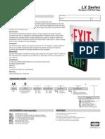 lx spec sheet 0601655