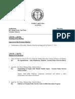 TPSB April 25th 2013 Agenda