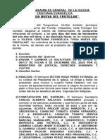 Acta Asamblea General Vida Nueva Del Frutillar