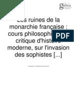 les ruines de la monarchie française 1