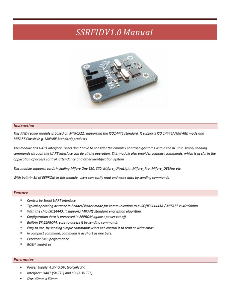 13 56MHZ RFID Manual desbloqueado | File Format | Byte