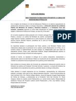 Nota de Prensa - Justicia Juvenil Restaurativa