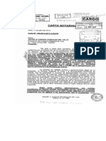 Carta Notarial a Javier Alvarado
