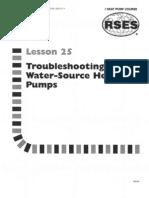 Heat Pump 25 Troubleshooting Water-source
