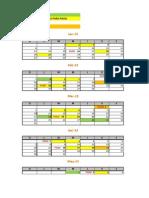 Calendario de Entrega 2013