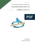 20100105 Implementation Plan 2010_12 NDBMP IDCOL1