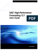 SAS High Performance Forecasting