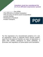 Recombinant Protein Production in E.coli