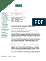 Letter to AZ House of Representatives regarding