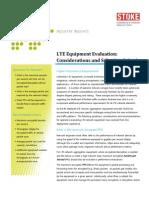 !LTE Equipment Evaluation Considerations Selection Criteria