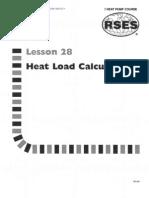 Heat Pump 28 Heat Load Calculations