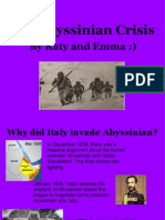 How Did the League Respond to Italy's Invasion of Abyssinia