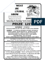 Ennistymon North West Clare Agricultural Show Full Brochure June 2013