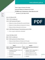Primer Congreso Nacional y Provincial sobre Programas del Ministerio de Industria de la Nación