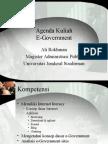 Agenda Kuliah E-Gov MAP 2009(2)