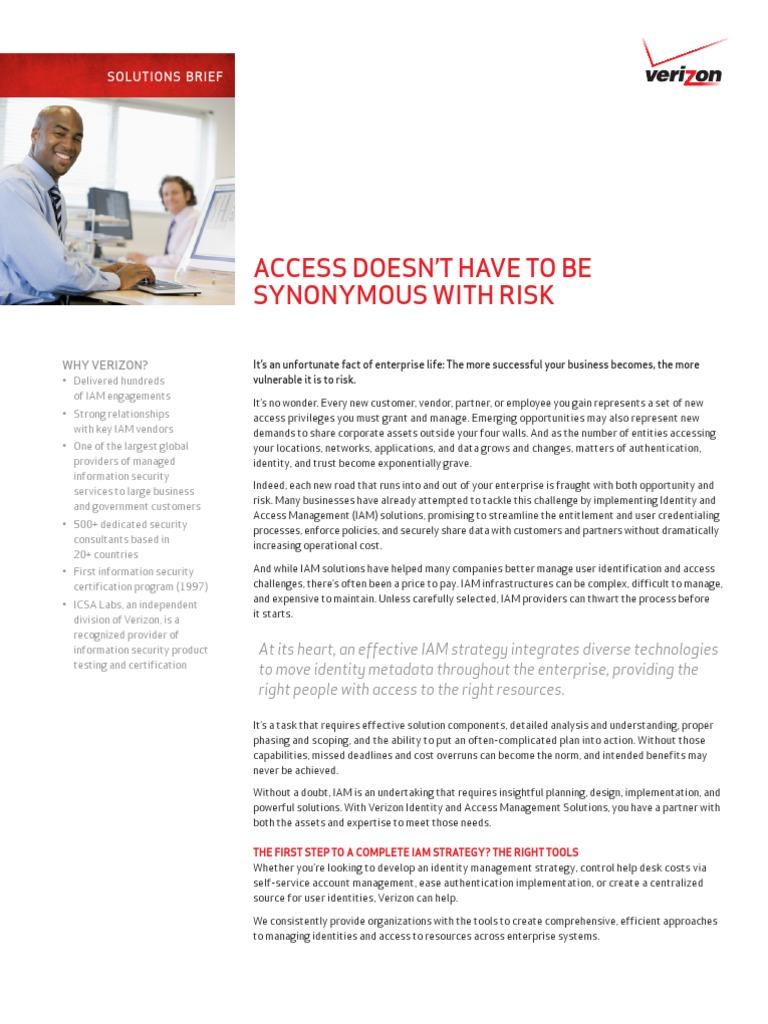 Sb identity access management solutions en xg information sb identity access management solutions en xg information security verizon communications xflitez Images