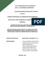 Informe de Practicas Snack Bar Licosabor s.r.l. Corregido (Autoguardado)