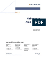 Data Monitor - Hair Care Cateogory in Asia