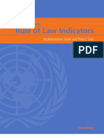 Rule of Law Indicators - Implementation Guide and Project Tools - UN