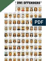 DWI Offenders - Jan.-March 2013
