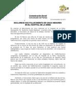 20/12/10 Germán Tenorio Vasconcelos esclarece SSO fallecimiento de cinco menores en el hospital de la Niñez.doc
