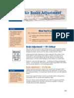 Commercial Vehicles Air Brake Adjustment