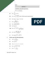 worksheet of functions