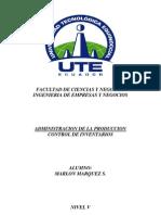 Control de Inventarios-Administracion de La Produccion