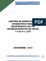 Cartera de Ambientes de Infraestructura y Equipamiento de Eess I-1 Al II -1 y II-e