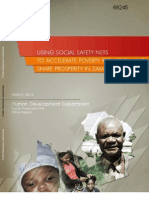 Using Social Safety Nets in Zambia - World Bank Report 2013