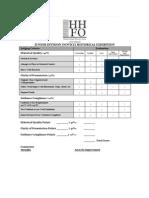 hhfo junior division novice exhibition evaluation form