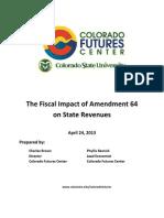 Colorado Futures Center Marijuana Tax Report