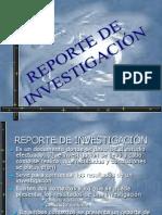 REPORTE DE INVESTIGACIÓN