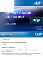 UMR Research Assange Study 19 April 2013