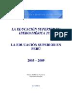 Educacion Universitaria en El Peru 2005 2010