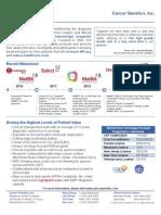 Cancer Genetics Inc Flyer