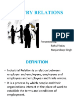 Hrm Ppt on Industrial Relations