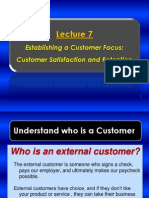 Lecture 7 - Establishing a Customer Focus _ Customer Satisfaction an Retention
