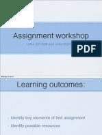 assignment workshop 1