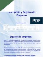 Conferencia 2012 Insripcion y Registro de Empresas