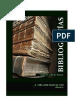 Bibliografía básica. La lírica del Siglo de Oro