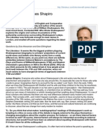 Literateur.com-Interview With James Shapiro
