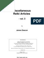 Miscellaneous Reiki Articles, Vol 3