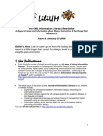 UML Information Literacy Newsletter January 23 09
