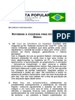 Refundar a Esquerda Para Refundar o Brasil