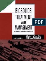 Tratamiento y Manejo de Biosolidos