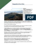 Topografía del Cerro Verde
