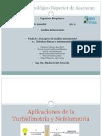 Aplicaciones de la Turbidimetría y Nefelometría