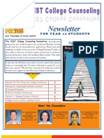 NIST College Counseling Newsletter for Year 12 Students April 25, 2013