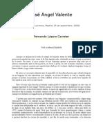 Lazaro Carreter, Fernando .-. Jose Angel Valente